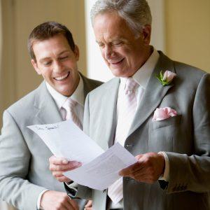 Üben der Brautvaterrede