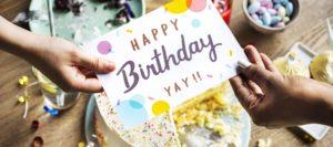 Geburtstagskarte, Spruch zur Karte, Zitat auf einer Geburtstagskarte